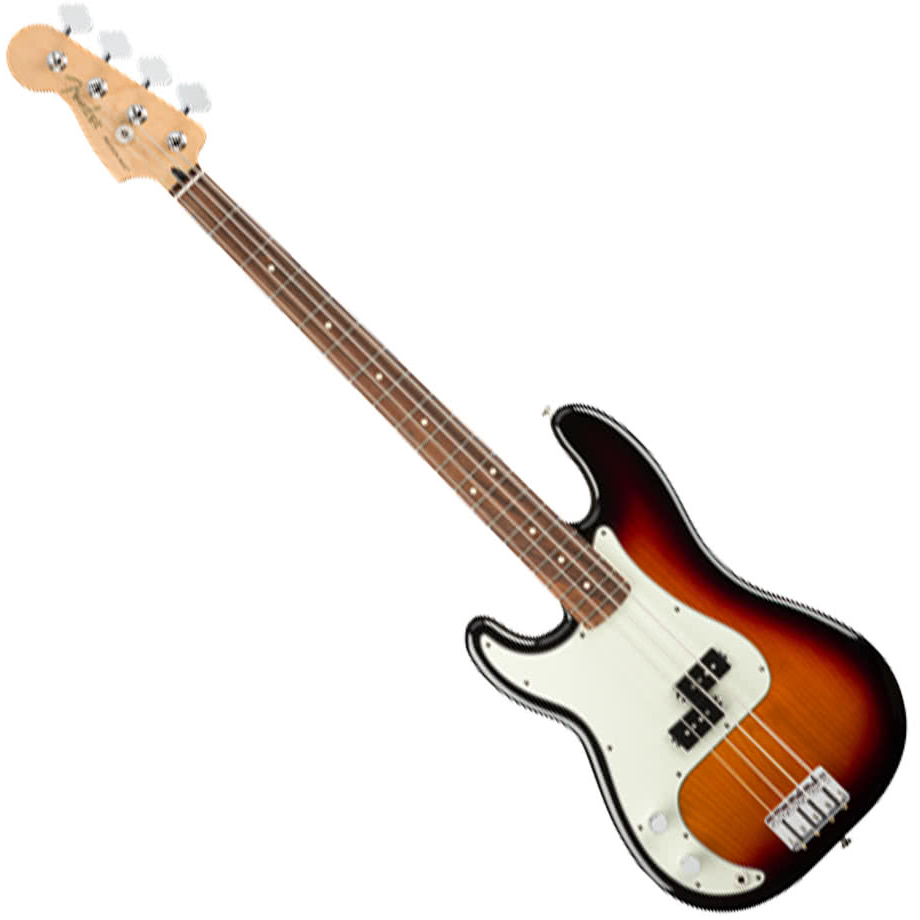 Fender Player Precision Bass Guitar Left-Handed - Pau Ferro / 3-Color Sunburst