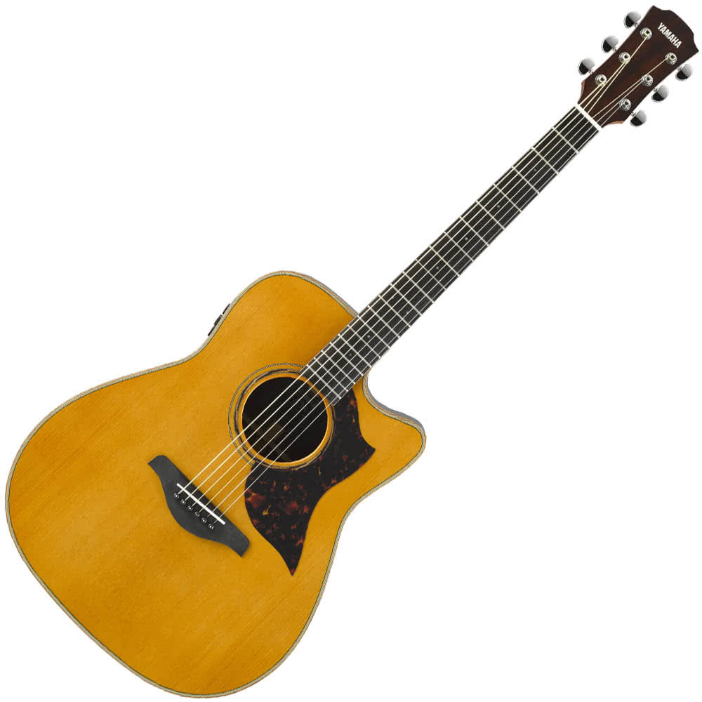 Yamaha A3R//ARE Modified Dreadnaught Acoustic Guitar w/solid Spruce top - solid Rosewood back and sides - Vintage Natural