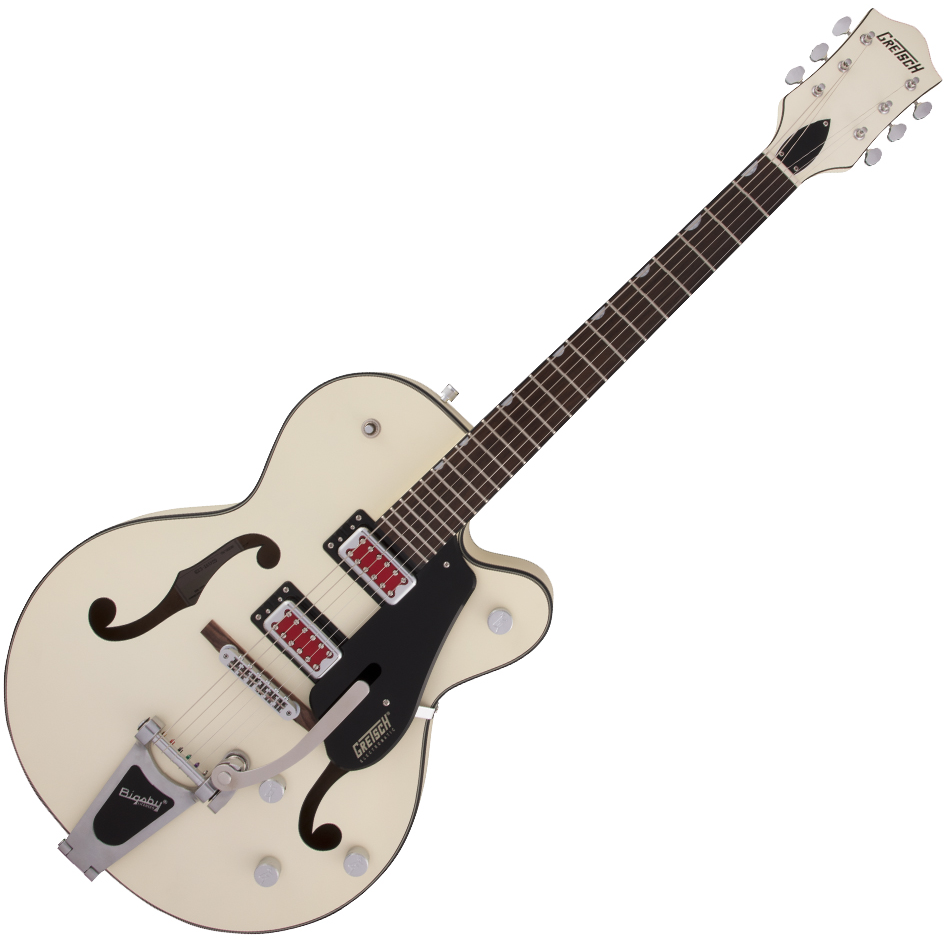 "Gretsch G5410T Electromatic ""Rat Rod"" Hollow Body Single-Cut with Bigsby - Rosewood Fingerboard - Matte Vintage White"