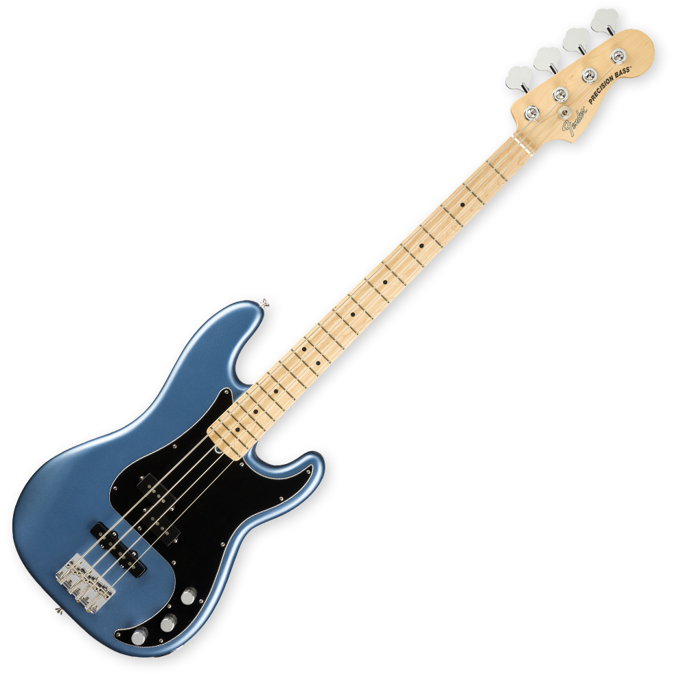 Fender American Performer Precision Bass - Maple Fretboard - Satin Lake Placid Blue
