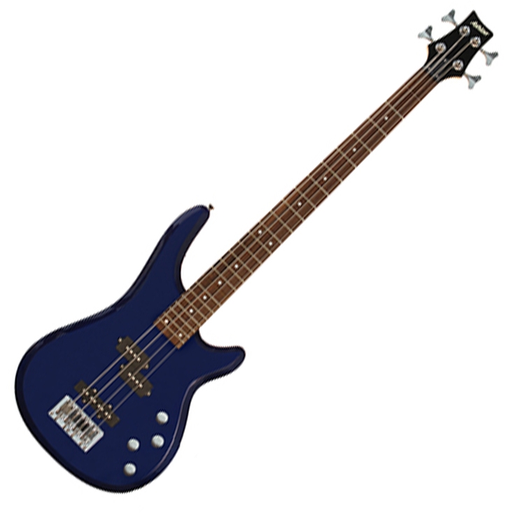 Ashton AB4TDB Bass Guitar in Blue - Blue