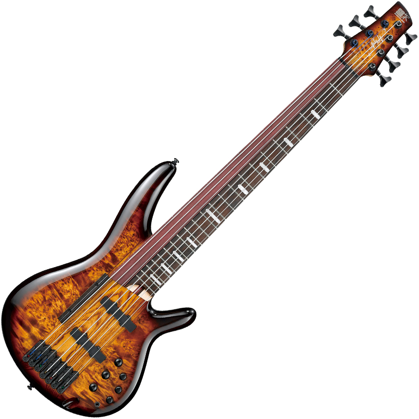 Ibanez SRAS7 DEB Ashula Hybrid Bass Guitar - Dragon Eye Burst