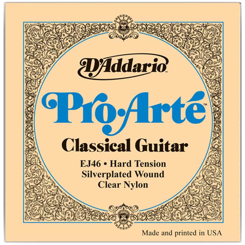 D'Addario EJ46 Pro-Arte Nylon Classical Guitar Strings - Hard Tension