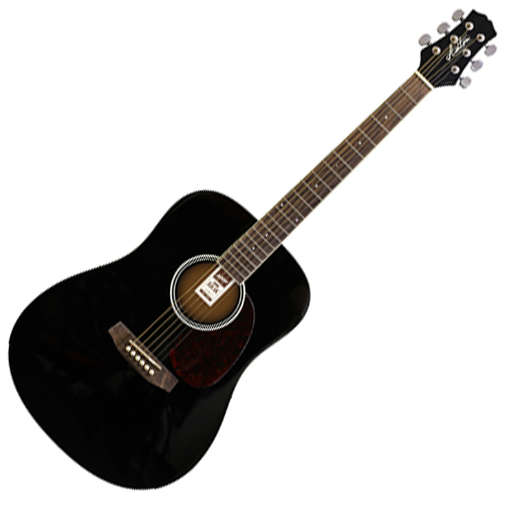 Ashton D20 BK Acoustic Guitar - Black