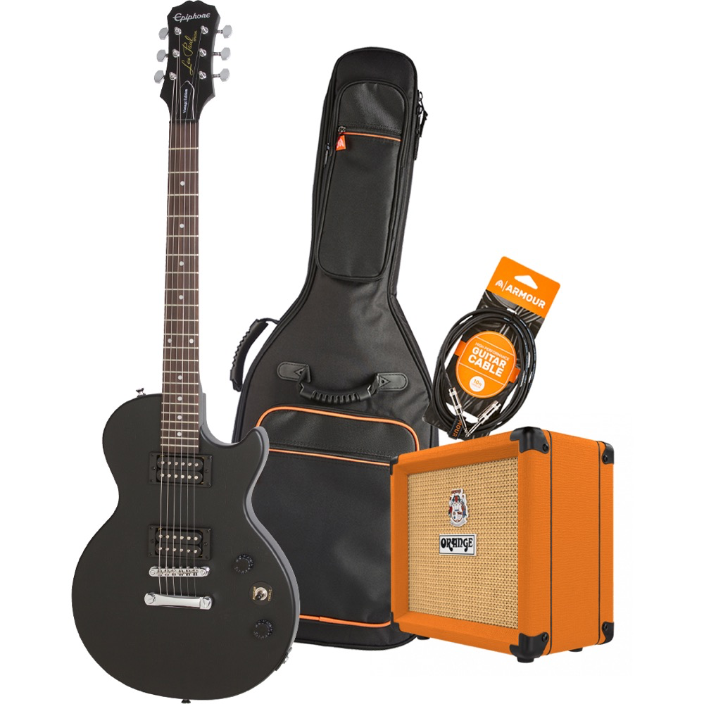 Epiphone Les Paul Special VE CHV Electric Guitar Pack with Orange Crush 12 Amplifier - Armour Gig Bag and Lead