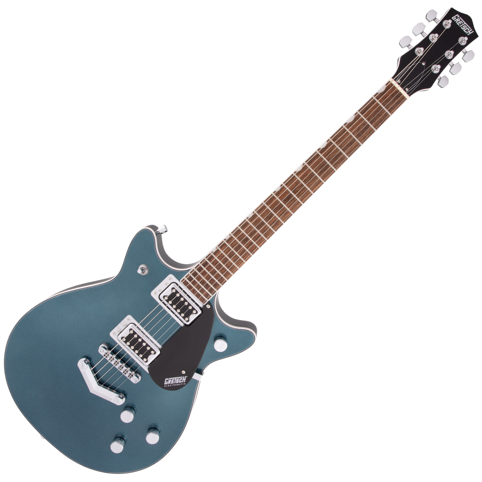 Gretsch G5222 Electromatic Double Jet™ BT with V-Stoptail - Laurel Fingerboard - Jade Grey Metallic