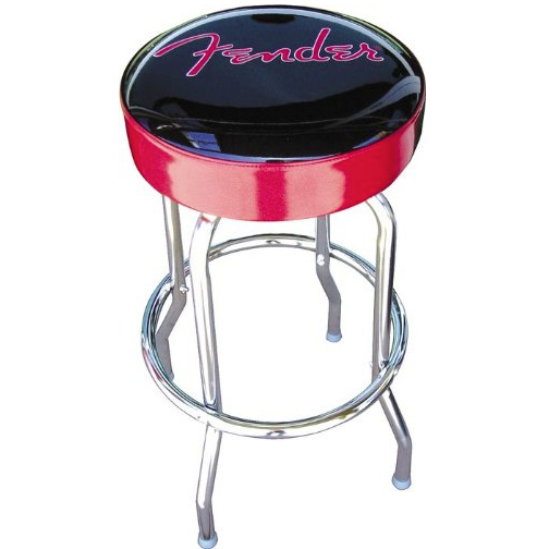"Fender Stool 30"" Black w/Red sides"