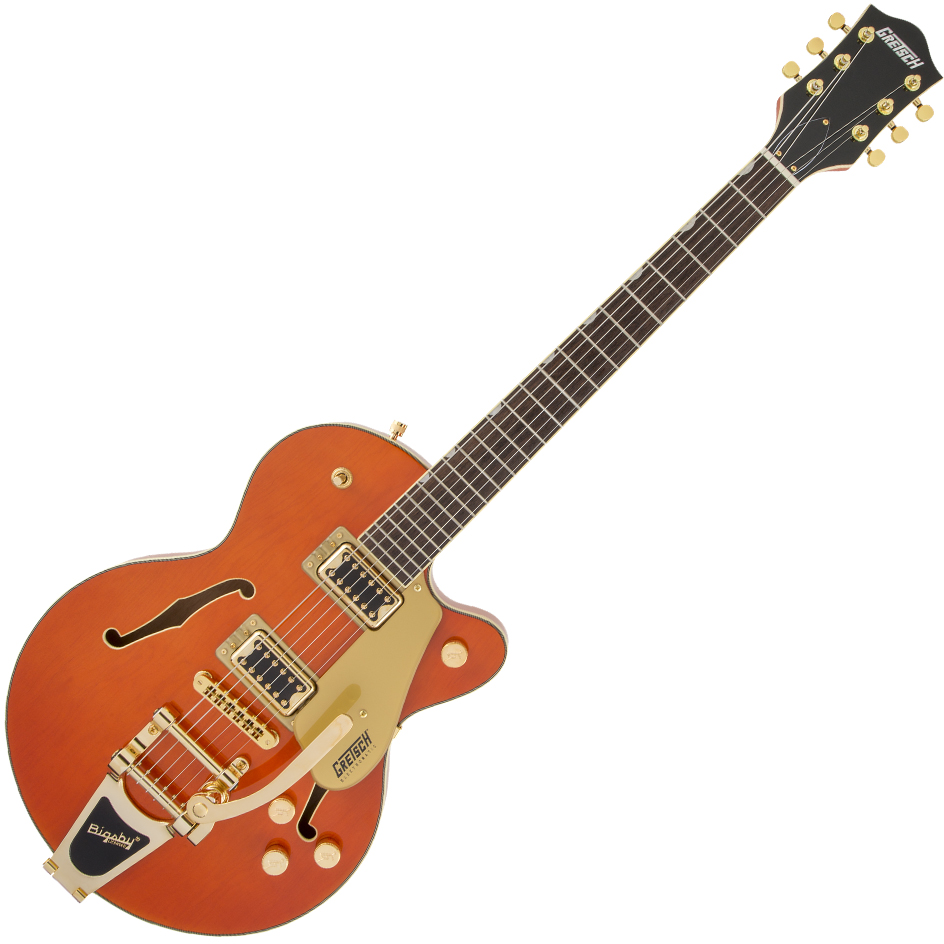 Gretsch G5655TG Electromatic Center Block Jr. Single-Cut w/Bigsby/Gold Hardware - Laurel Fingerboard - Orange Stain