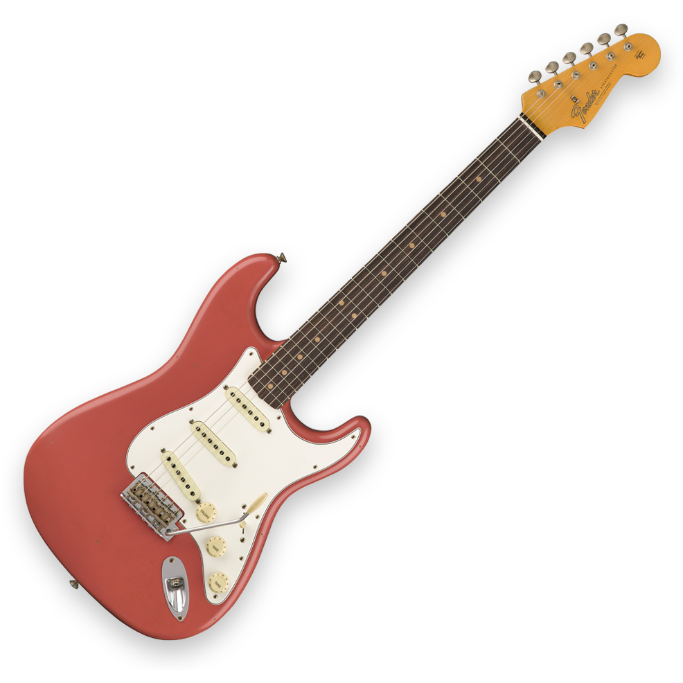 Fender Custom Shop 1964 Stratocaster Journeyman Relic - Rosewood Fingerboard - Super Faded Aged Fiesta Red