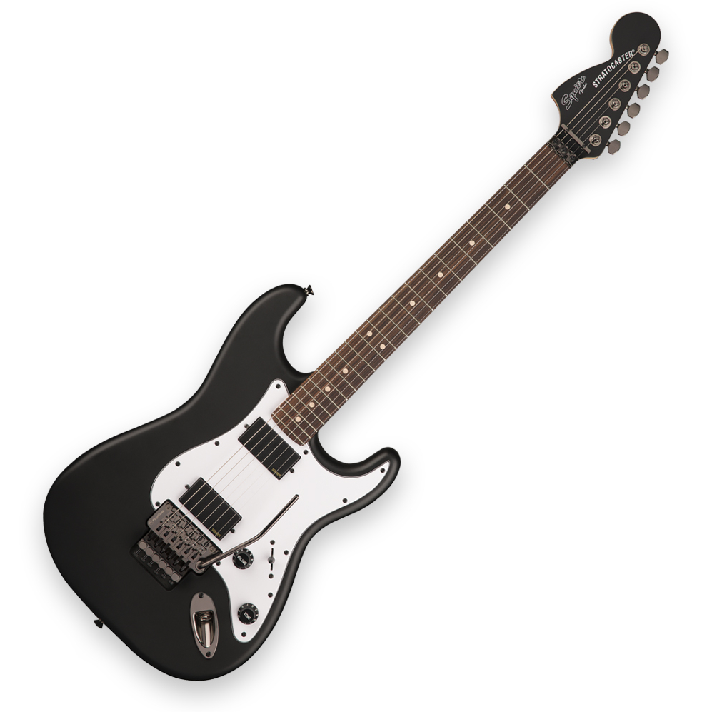 Squier Contemporary Active Stratocaster HH - Laurel Fingerboard - Flat Black
