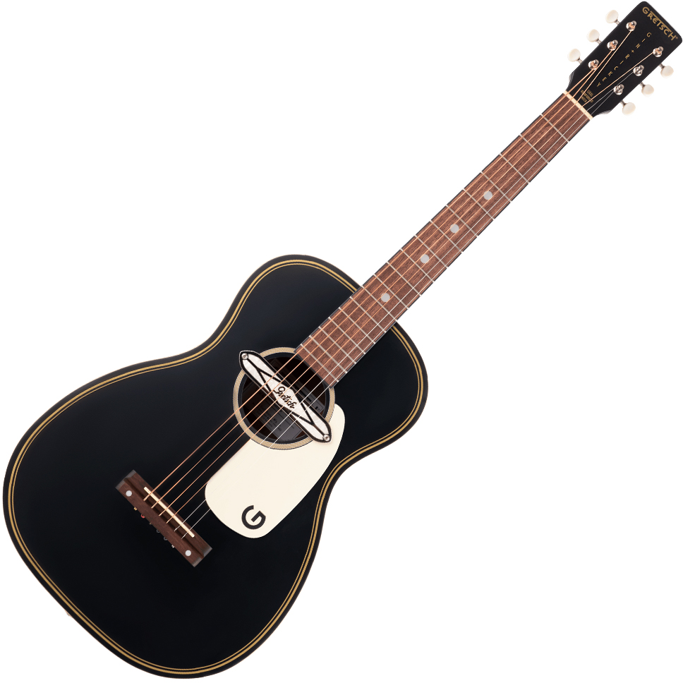 Gretsch G9520E Gin Rickey Acoustic/Electric With Soundhole Pickup - Walnut Fingerboard - Smokestack Black