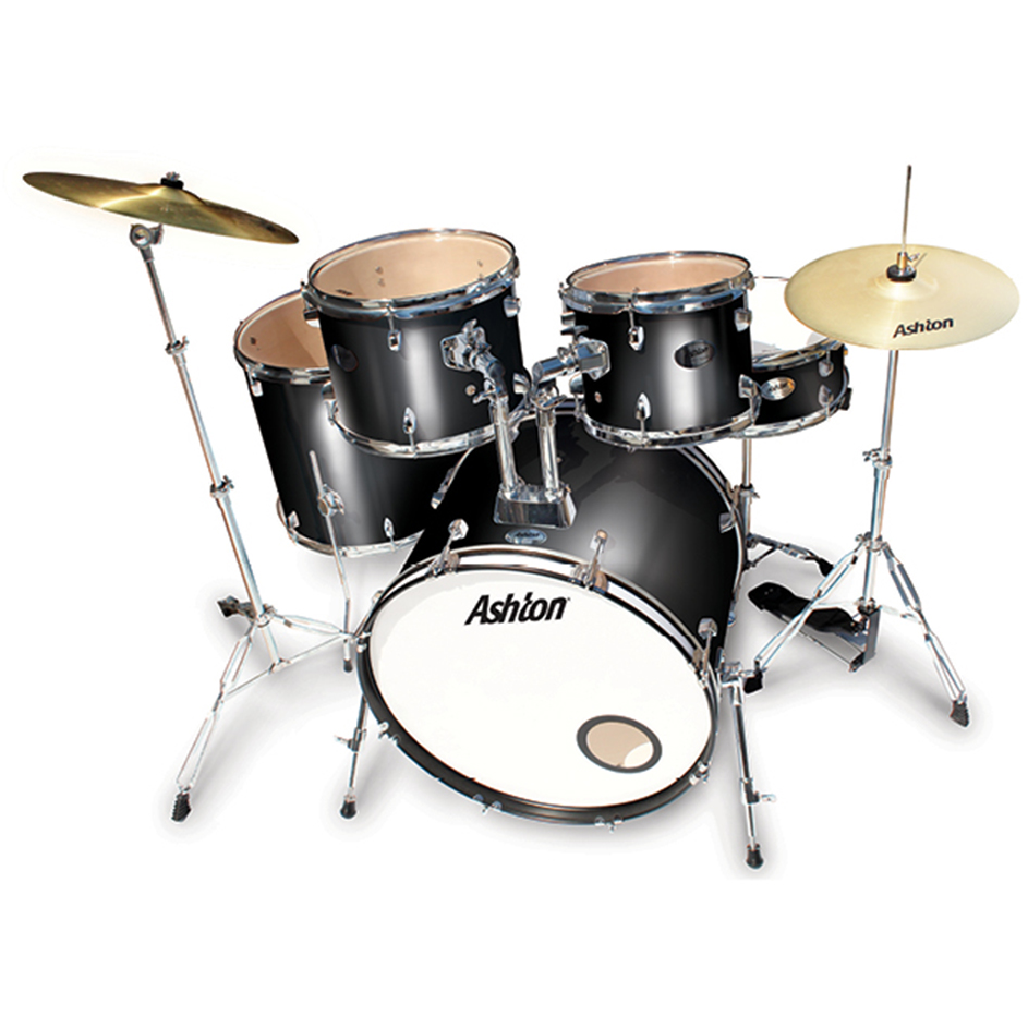 Ashton TDR522BK Rock Drumkit in Black