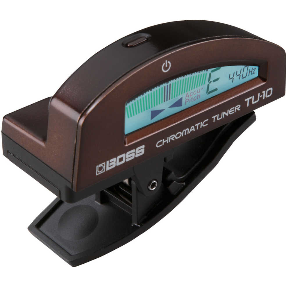 Boss TU-10 Clip on Chromatic Tuner (Brown)