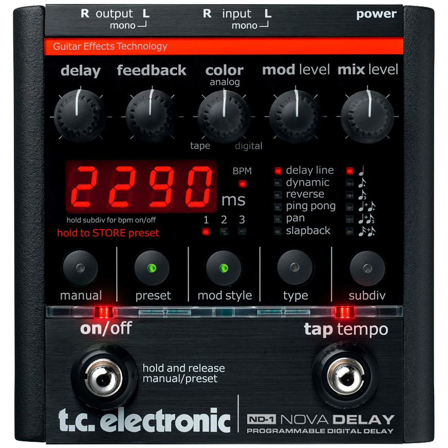 TC Electronic Nova Delay Guitar Effects Pedal