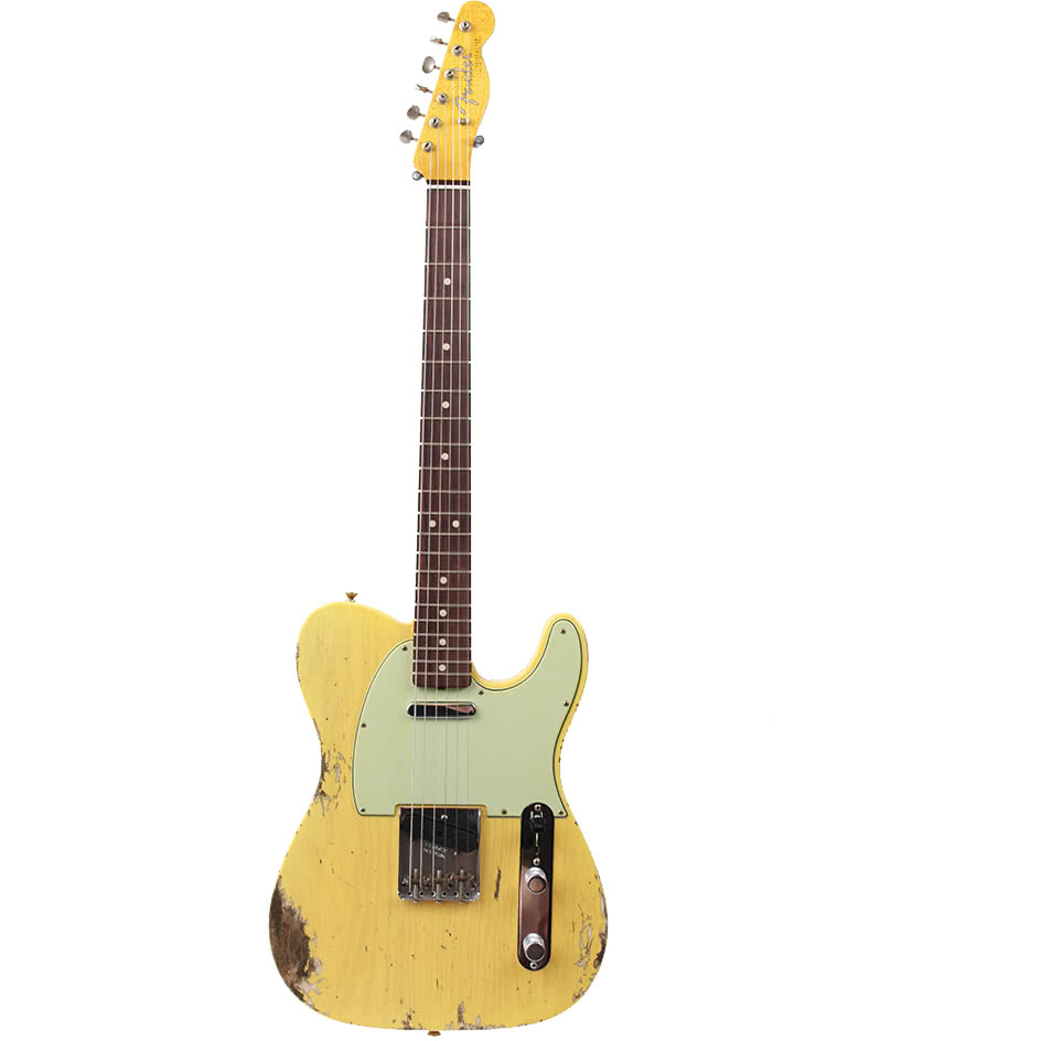 Fender Custom Shop 1963 Heavy Relic C/R Telecaster - Super Faded/Aged Nocaster Blonde