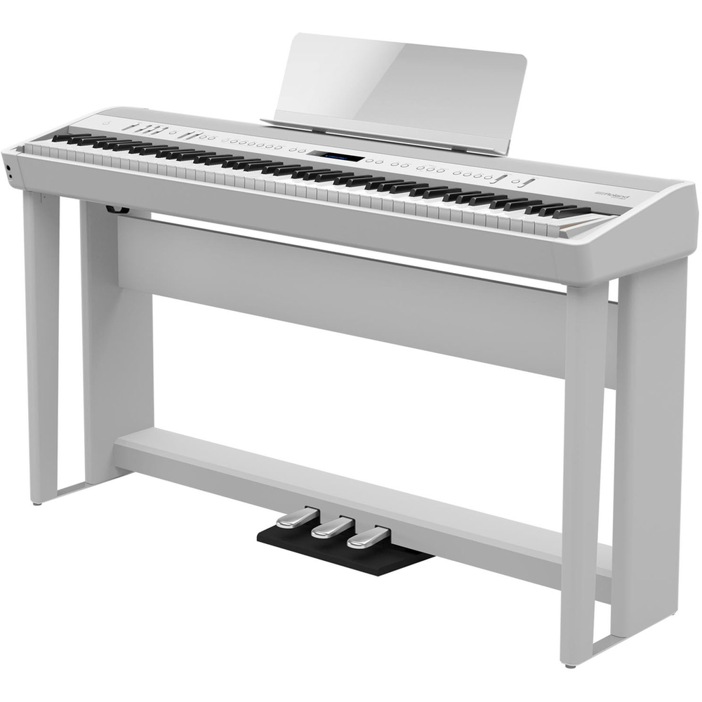 Roland FP90WHS Digital Piano Bundle incl - Stand - Pedal Board and Bench - White