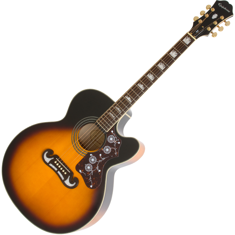 Epiphone EJ200SCE Acoustic Vintage Sunburst - Brown