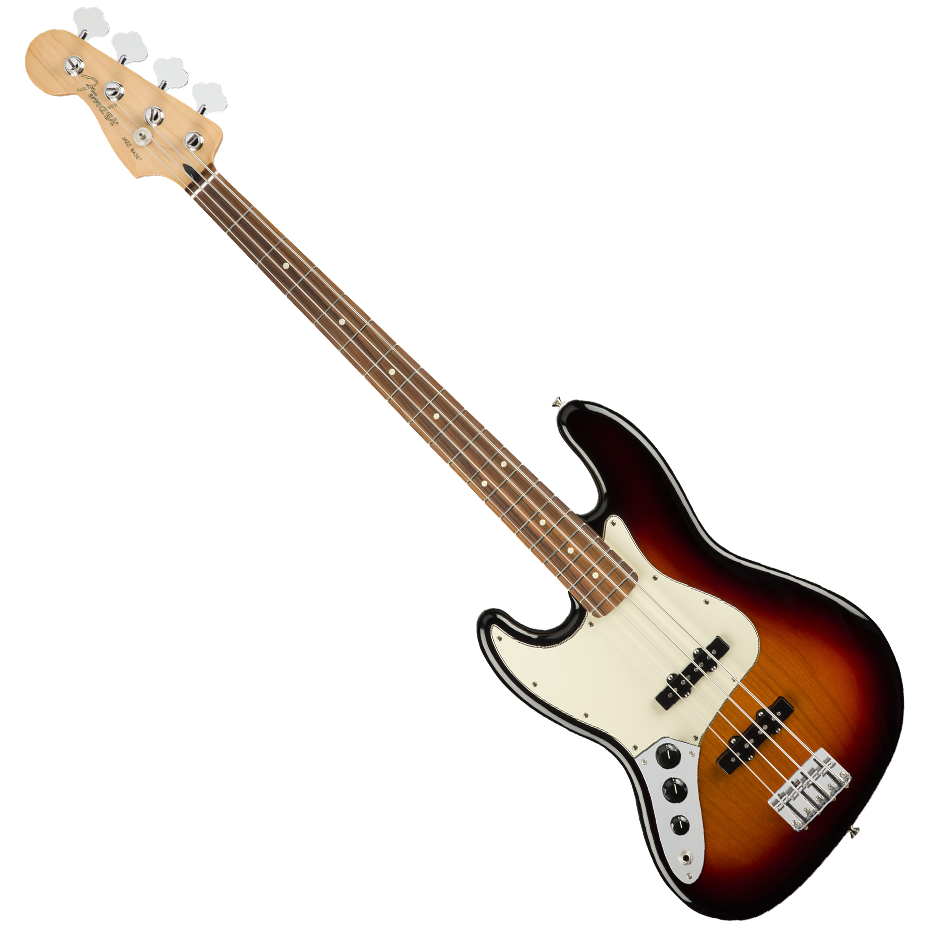 Fender Player Jazz Bass Guitar Left-Handed - Pau Ferro / 3-Color Sunburst