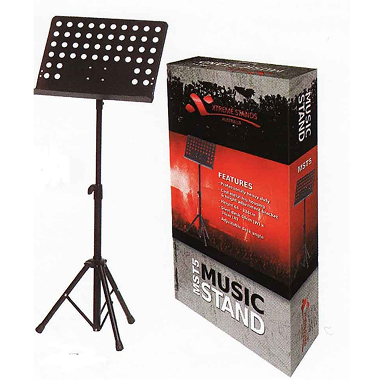 AMS MST5 Heavy Duty Music Stand - Black