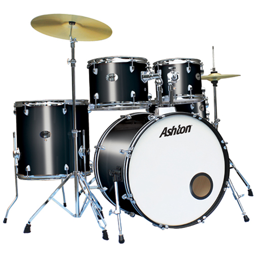Ashton TDR520BK Drumkit Black in Black