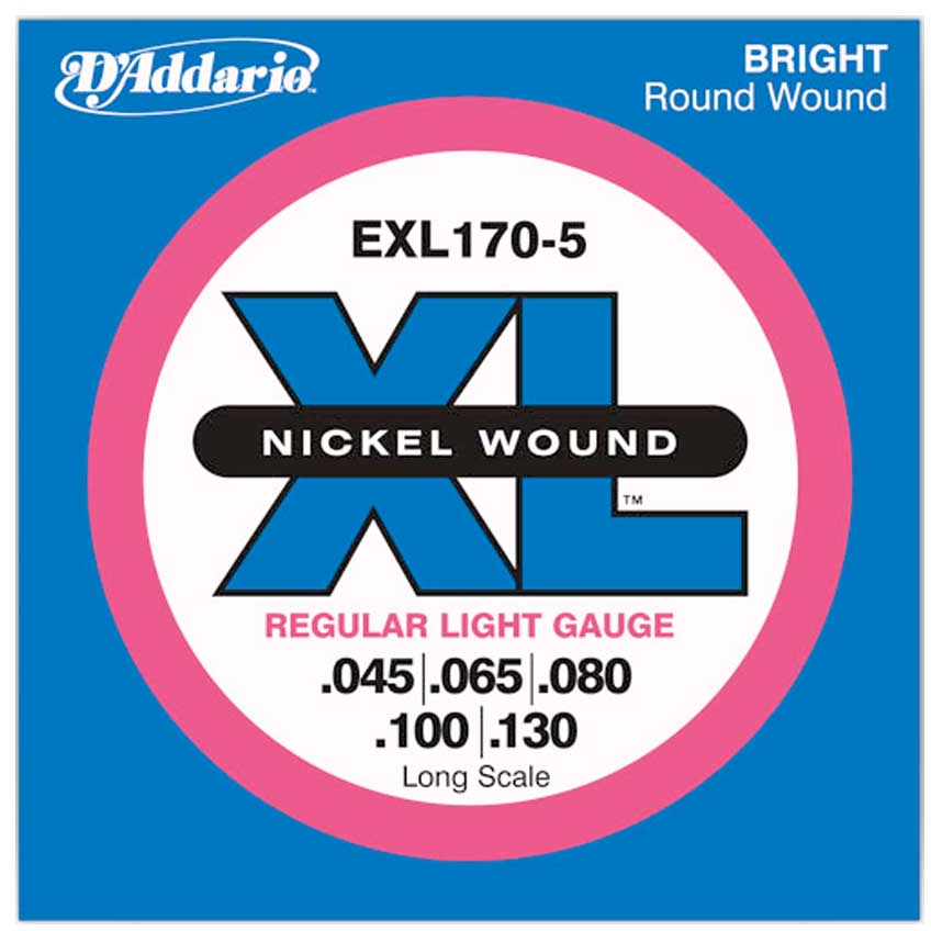 D'Addario EXL170 Nickel Wound Bass Guitar Strings - Light - 45-100 - Long Scale