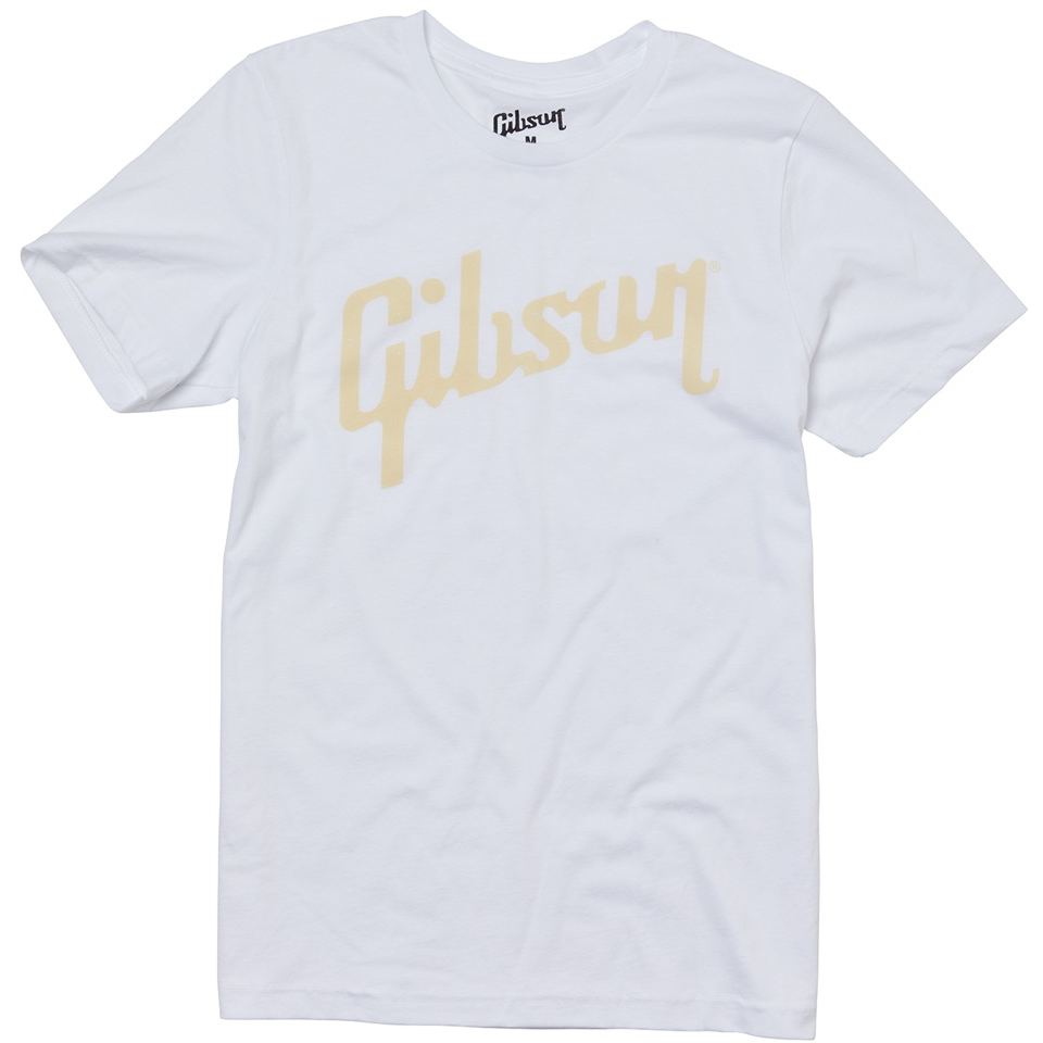 Gibson Distressed Logo Tee (White) - Extra Large T Shirt