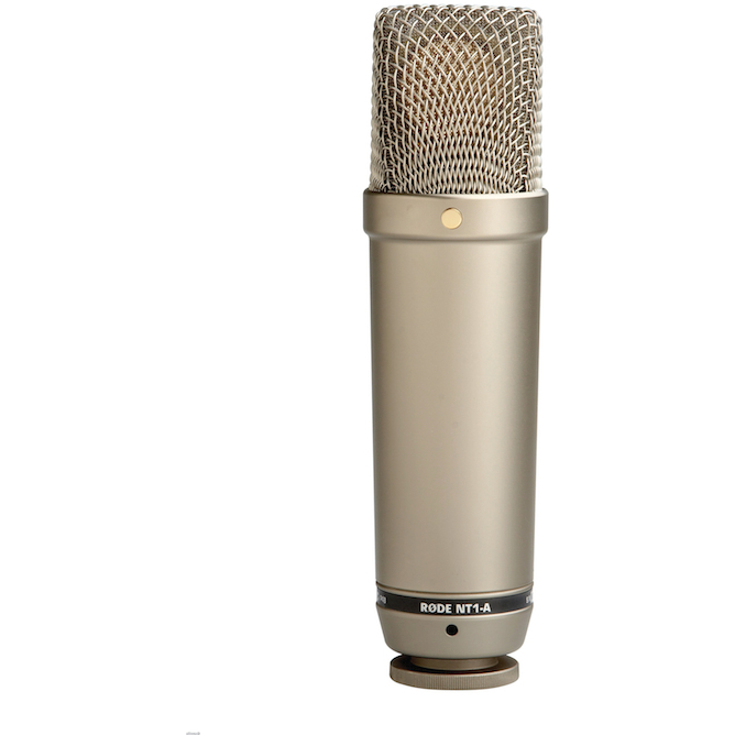Rode NT1-A Studio Condenser Microphone w/Shock Mount & Pop filter
