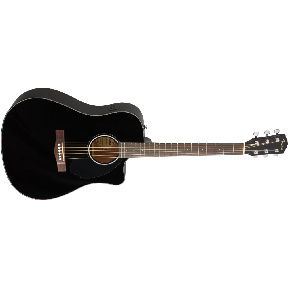 Fender CD-60SCE Dreadnought - Walnut Fingerboard - Black