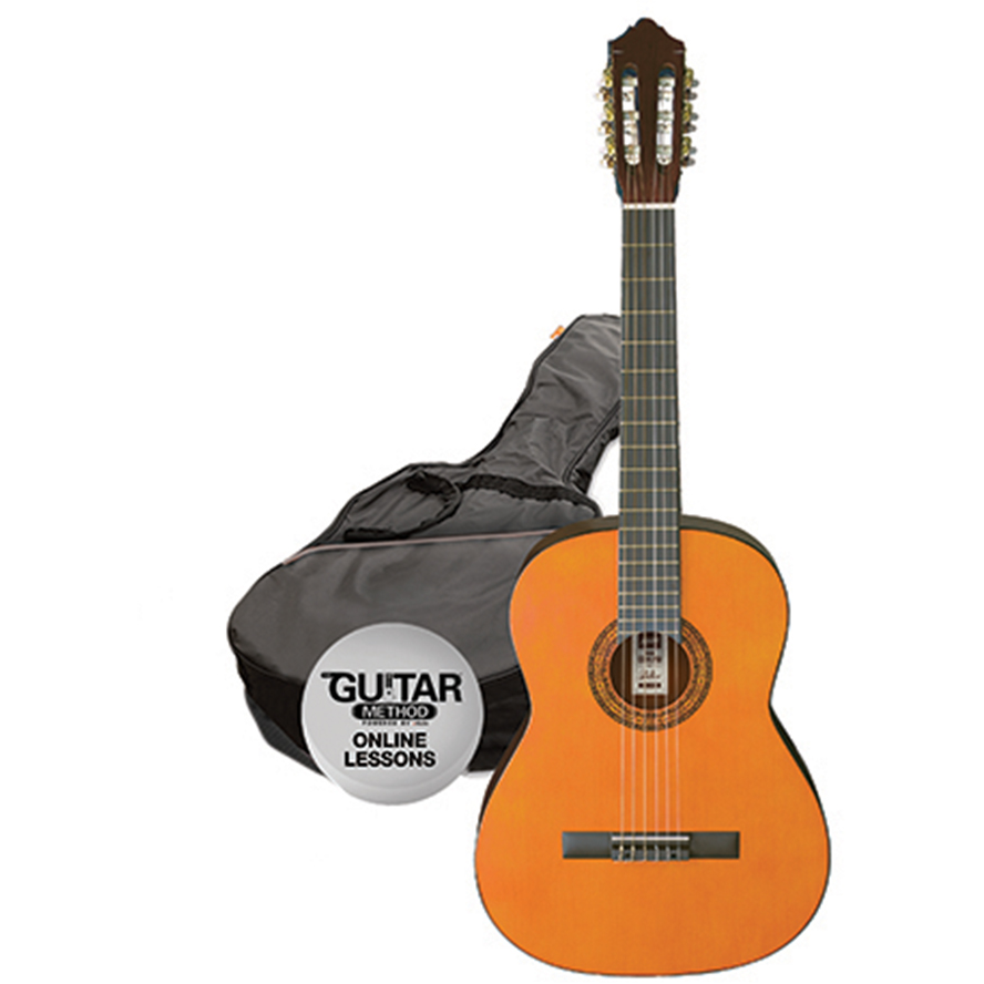 Ashton SPCG12 AM Classical Guitar Starter Pack - 1/2 Size - Amber