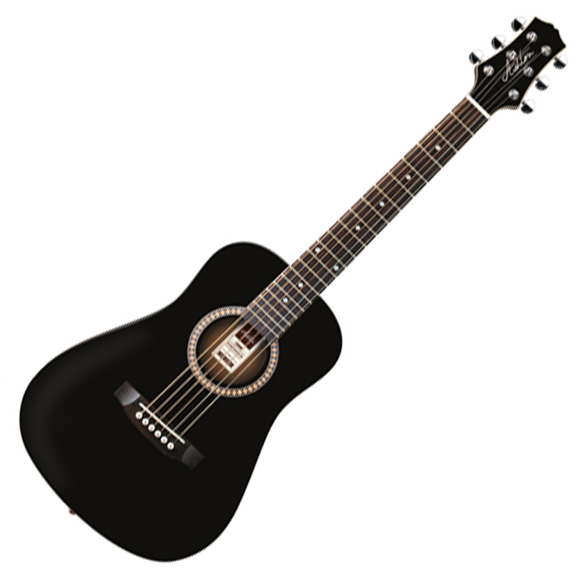 Ashton MINI20 BK Acoustic Guitar - Black