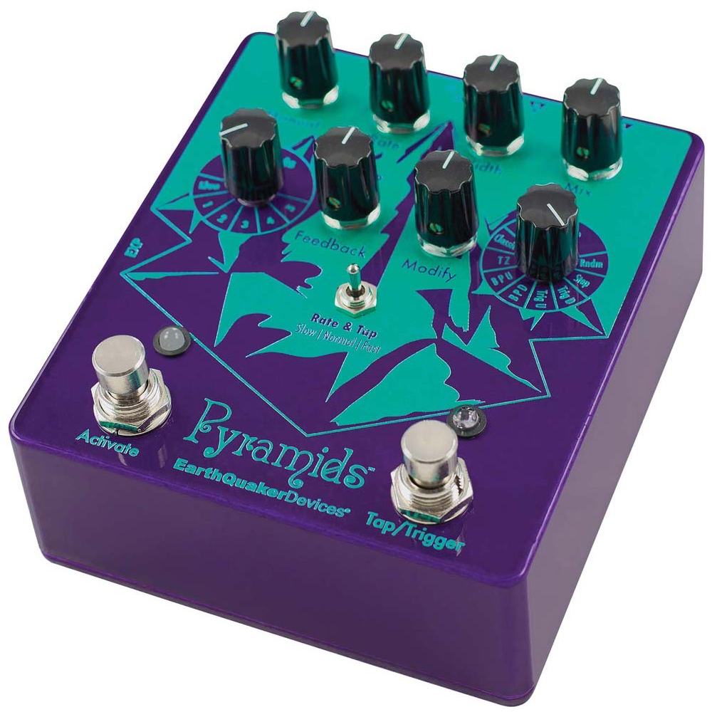 EarthQuaker Pyramids Stereo Flanger w/Power Supply