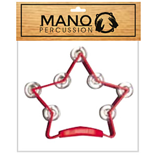 Mano Percussion TMP50R Star Tambourine Red
