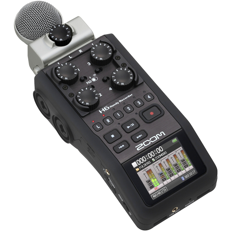 Zoom H6 - 6 channel Portable Multitrack Recorder