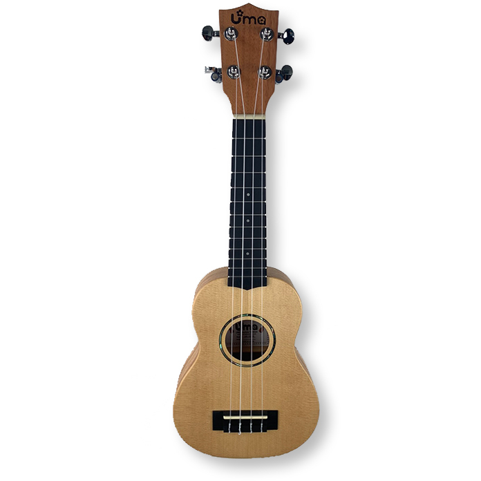 "Uma ""Danee"" Soprano Ukulele, Solid Spruce Top, with bag"