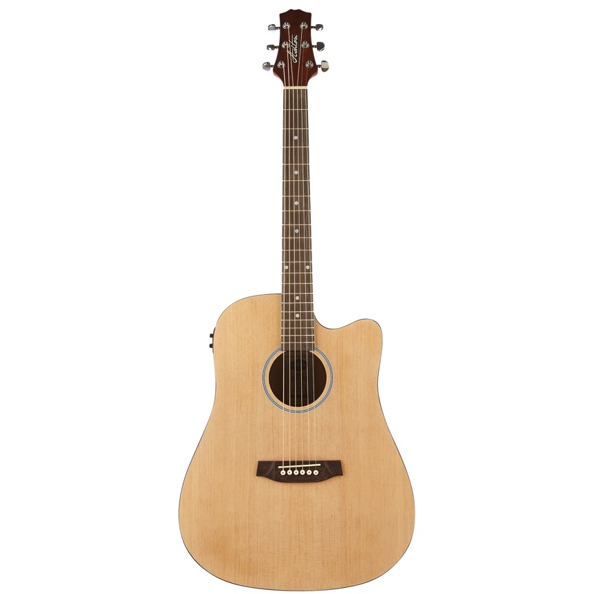 Ashton D20CEQ NTM Dreadnought Cutaway Acoustic Guitar with EQ - Natural