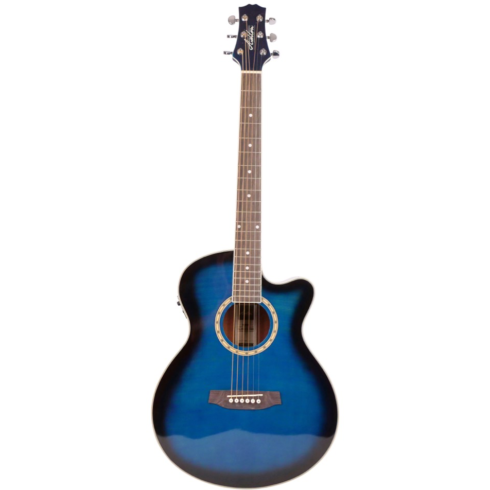 Ashton SL29CEQTBB Slimline Acoustic Guitar with Cutaway and EQ - Blue