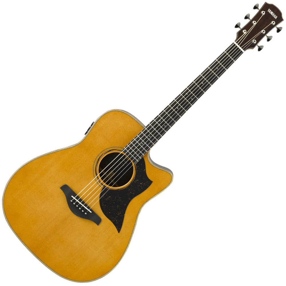 Yamaha A5M ARE Modified Dreadnaught Acoustic Guitar w/solid Spruce top - solid Mahogany back and sides - Vintage Natural