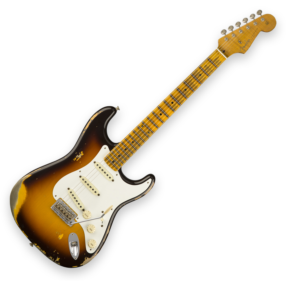 Fender Custom Shop 1958 Stratocaster Heavy Relic - Maple Fingerboard - Faded Chocolate 3-Color Sunburst