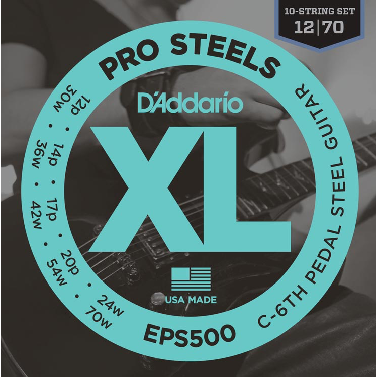 D'Addario EPS500 Pedal Steel Strings - C-6th