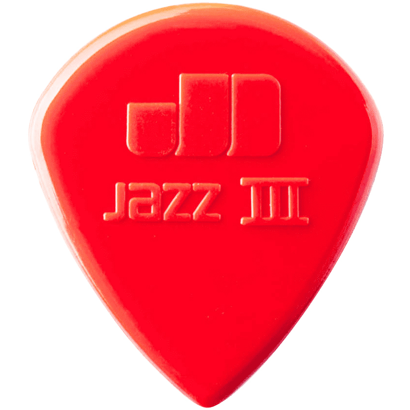 Dunlop Picks - Players Pack Nylon Jazz III Red Nylon - 6 Pack