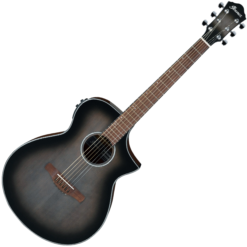 Ibanez AEWC11 TCB Acoustic Guitar - Transparent Charcoal Burst High Gloss