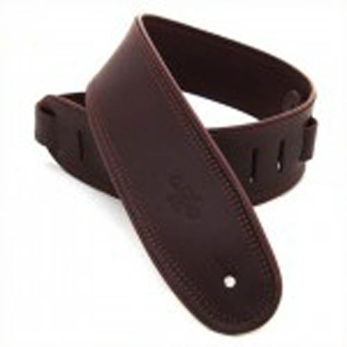DSL GEP25-17-2 Genuine Leather Guitar Strap 2.5 inch - Saddle Brown/Brown