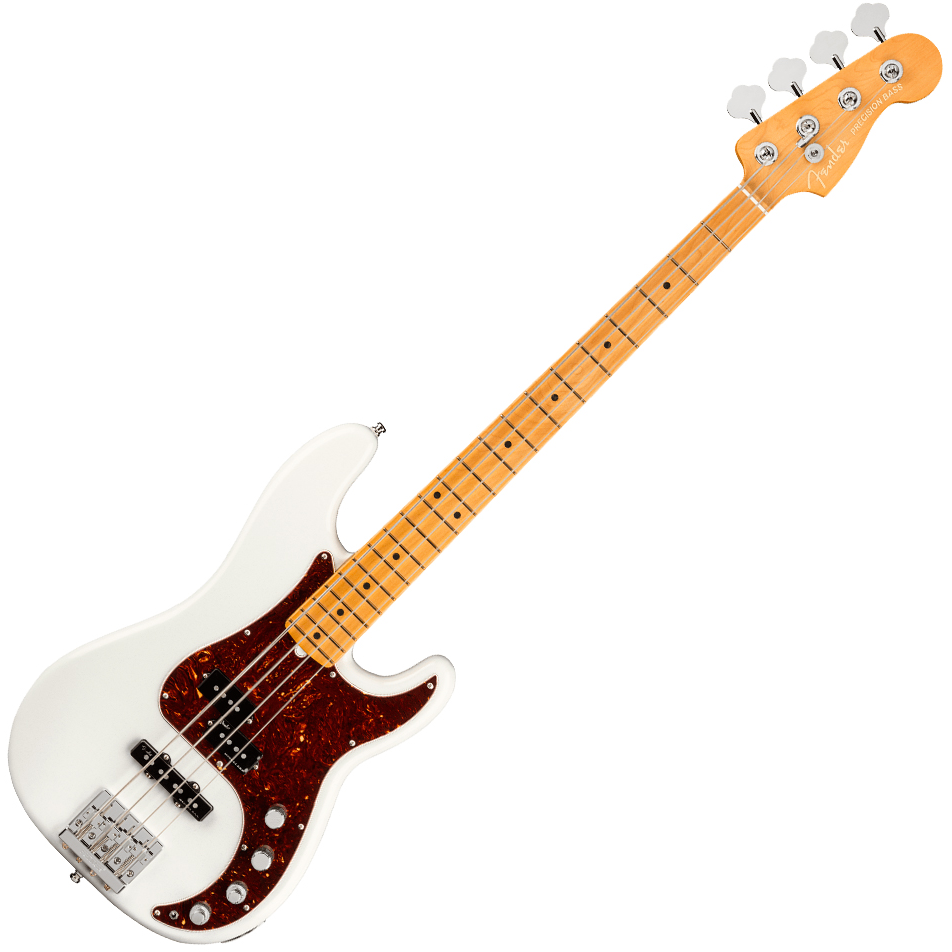 Fender American Ultra Precision Bass - Maple Fingerboard - Arctic Pearl w/ case