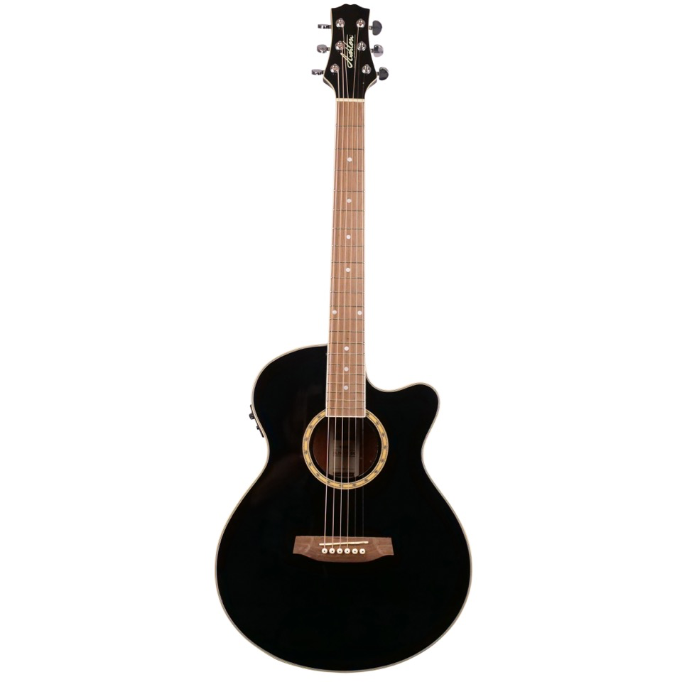 Ashton SL29CEQBK Slimline Acoustic Guitar with Cutaway and EQ - Black