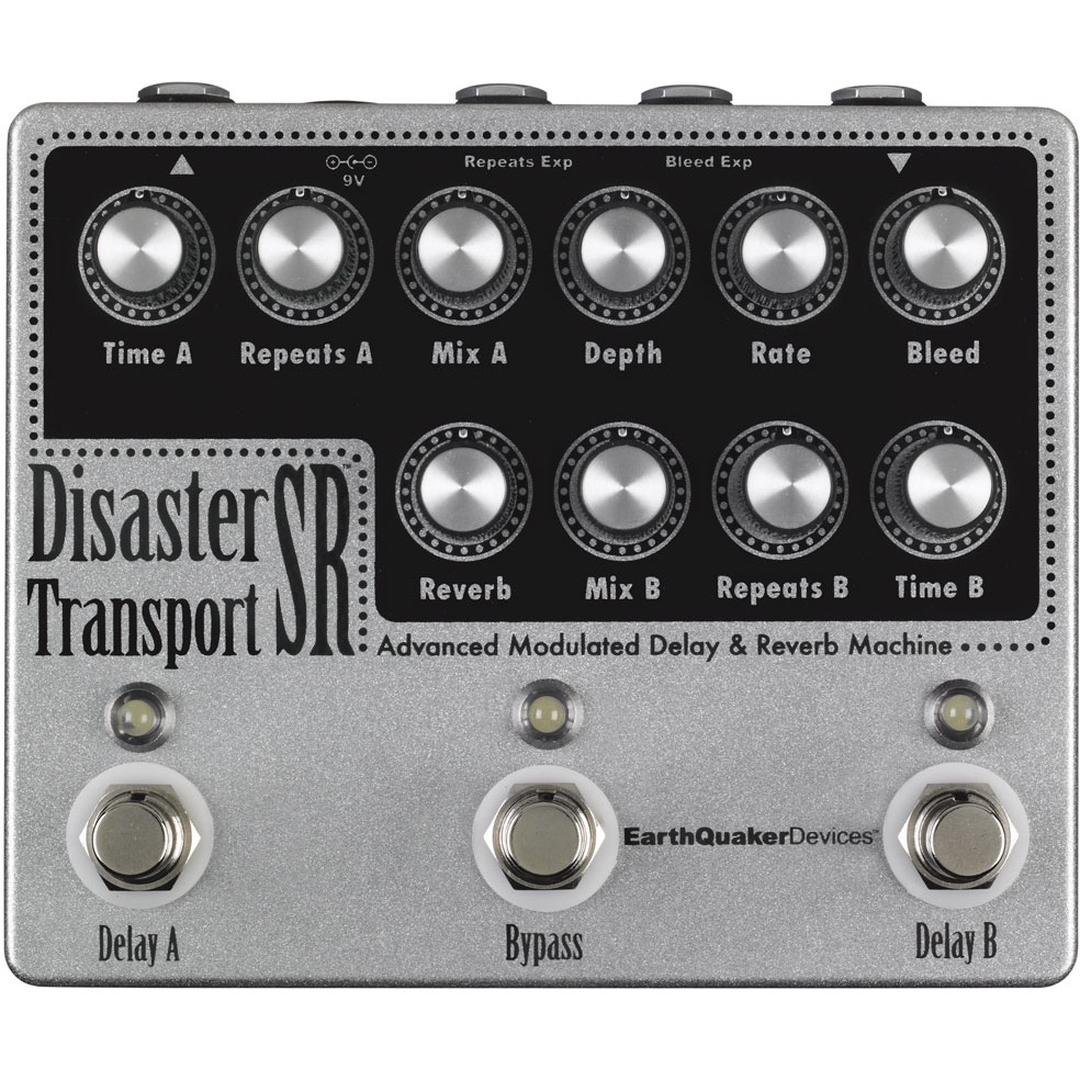Earthquaker Devices Disaster Transport Sr Delay Reverb Effects Pedal