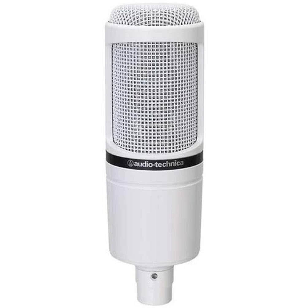 Audio-Technica AT2020 Cardioid Electret Condenser Microphone - White