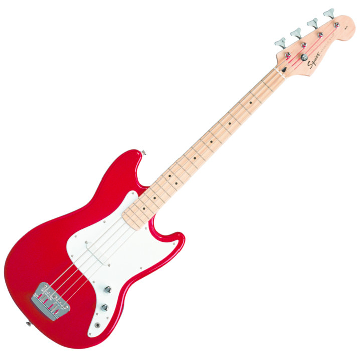 Squier Bronco Bass Short 30 Scale - Maple Neck/Red
