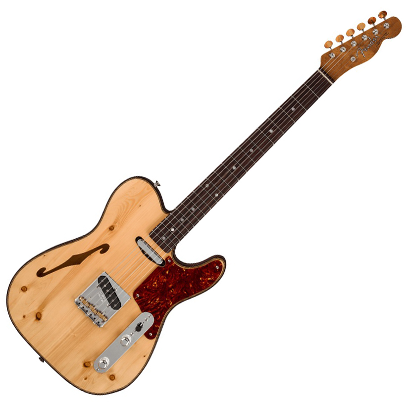 Fender Custom Shop Limited Edition Knotty Pine Tele Thinline RW - AAA Rosewood/Aged Natural