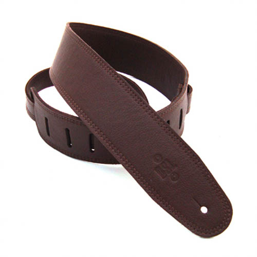 "DSL Genuine Leather Guitar Strap 2.5"" Top colour - Brown - Backing colour - Brown"