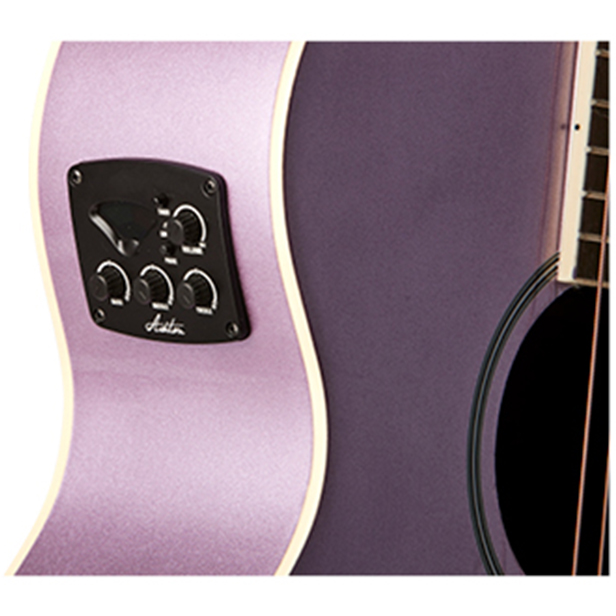 Ashton SL20EQ LS Slimline Acoustic Guitar with EQ - Purple